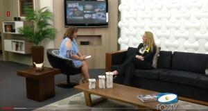 TV Foz entrevista Gracielle Torres durante a Latinoware